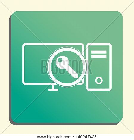 Pc Access Icon In Vector Format. Premium Quality Pc Access Symbol. Web Graphic Pc Access Sign On Gre