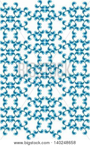 Vector Classic abstract geometric floral pattern ornament background for cards web fabric textures tile mosaic. opal blue color