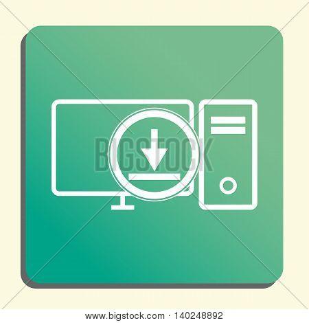 Pc Download Icon In Vector Format. Premium Quality Pc Download Symbol. Web Graphic Pc Download Sign