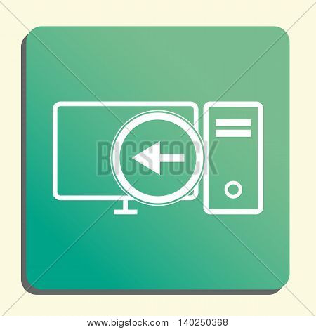 Pc Left Icon In Vector Format. Premium Quality Pc Left Symbol. Web Graphic Pc Left Sign On Green Lig