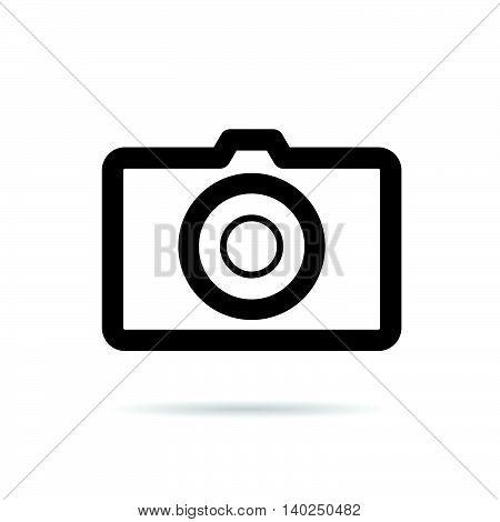 Camera Black Icon Illustration On White Background