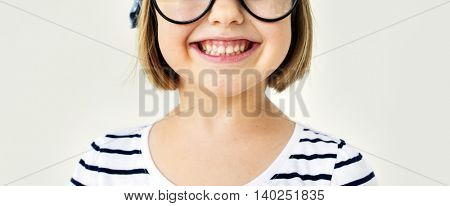 Adorable Girl Smiling Playful Happiness Concept
