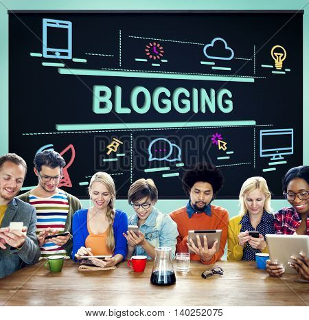 Blogging Connecting Content Homepage Story Concept