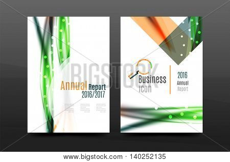Swirl wave annual report for business correspondence letter. Flyer design. Vector illustration