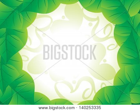 abstract artistic green floral background vector illustration