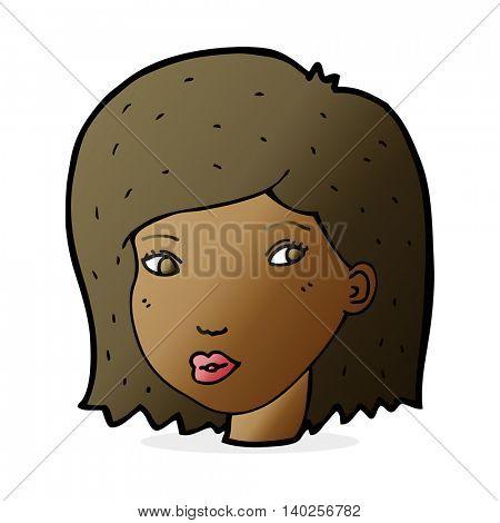 cartoon female face