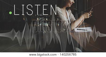 Listen Listening Music Sound Song Stylish Audio Concept