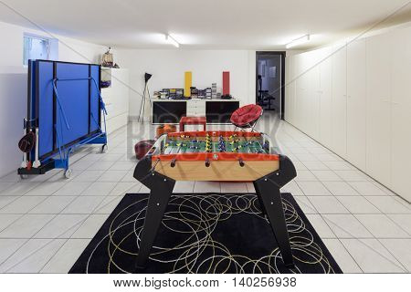 Interior of a home, playroom for teens