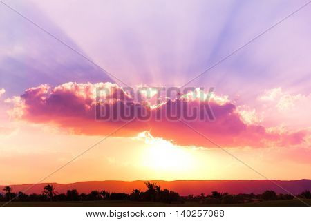 Heavenly View Sunset Paradise