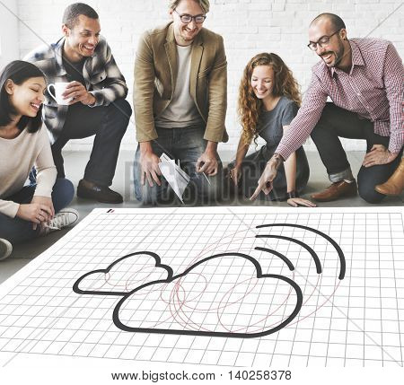 Cloud Computing Network Digital Information Concept