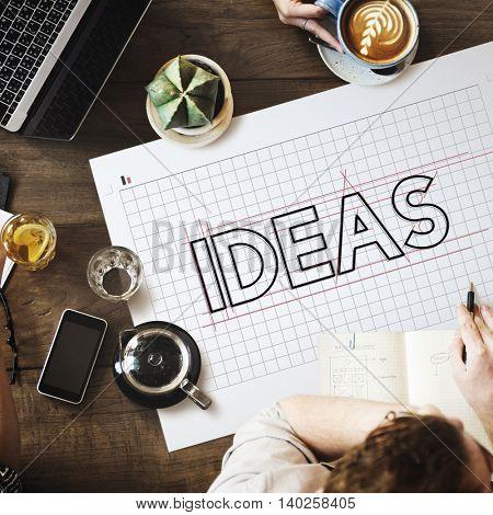 Ideas Creative Design Draft Graphic Concept