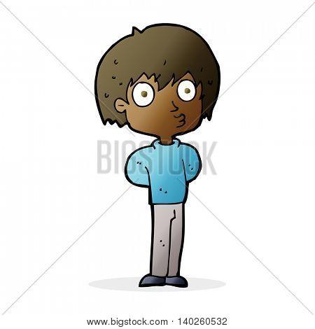 cartoon impressed boy