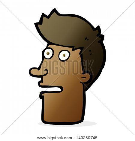 cartoon shocked male face