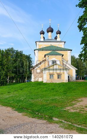 Church of Holy Martyrs Florus and Laurus Uglich Russia. Built in 1762
