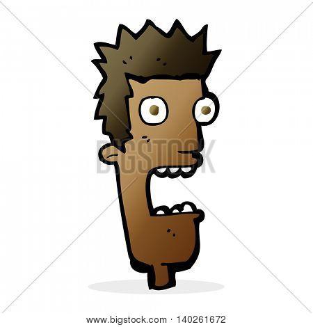 cartoon shocked man's face