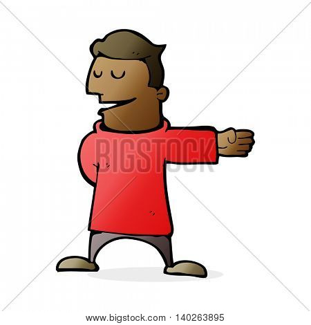 cartoon man gesturing direction