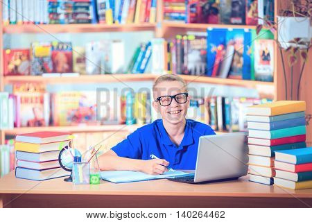 Kid Reading Book Pupil Learn Lesson and Dream Education