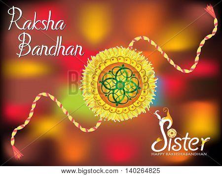 abstract colorful raksha bandhan background vector illustration