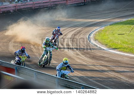 Speedway Riders On The Track