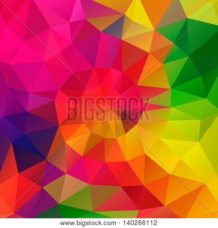 vector polygonal background with irregular tessellations pattern - triangular design in rainbow spectrum colors - full color.