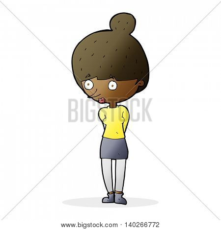 cartoon woman staring