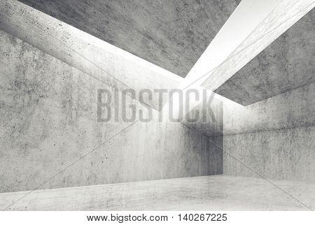 3D Render Illustration, Concrete Walls
