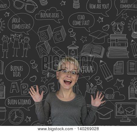 Language learning English French Italian Spanish courses