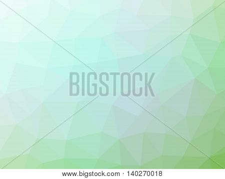 Abstract light green gradient polygon shaped background.
