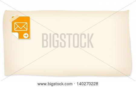 Slip of paper and icon of envelope
