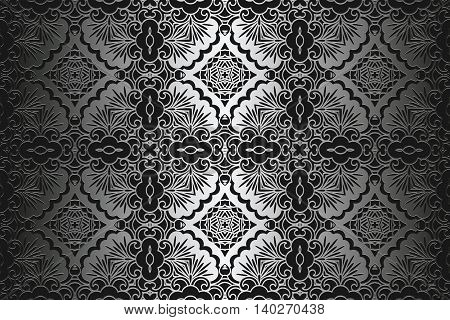 damask ornament platinum texture Elegant abstract background for design.