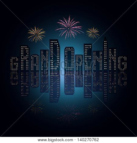 Grand opening vector illustration background for new store club etc. Template poster banner backdrop for opening event