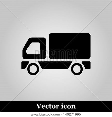 Truck Icon Vector Illustration on grey background