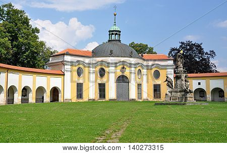 chapel and park in the city of Olomouc, Czech Republic, Europe