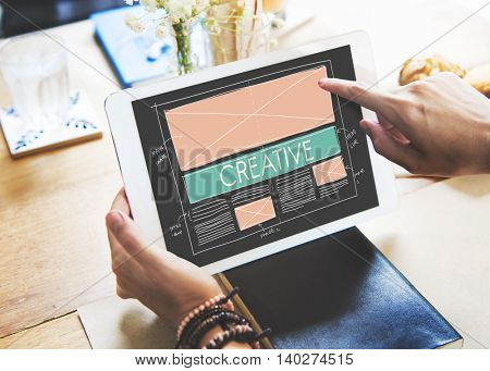 Creative Creativity Web Design Layout Concept