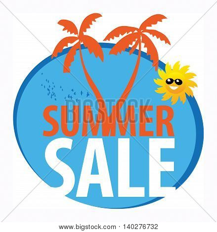 Summer sale abstract sign or sumbol, vector illustration