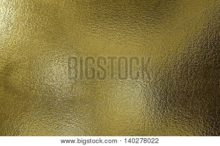 Golden color frosted Glass texture for background