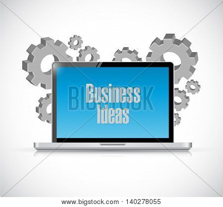 business ideas computer sign concept illustration design graphic