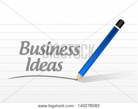 business ideas message sign concept illustration design graphic