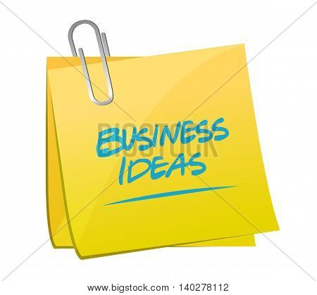 business ideas memo post sign concept illustration design graphic