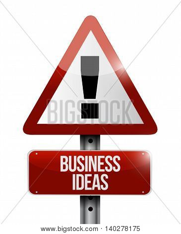 Business Ideas Warning Sign Concept