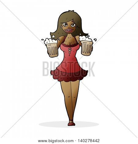 cartoon beer festival girl