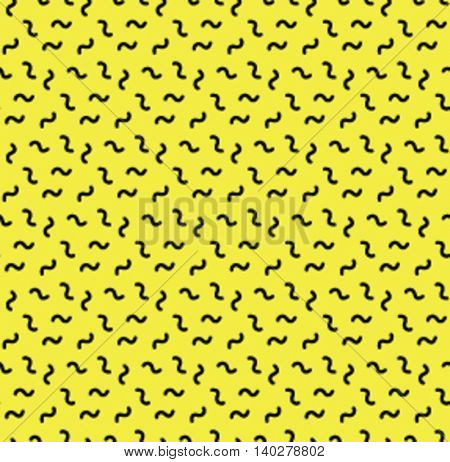 Seamless background pattern in retro memphis style