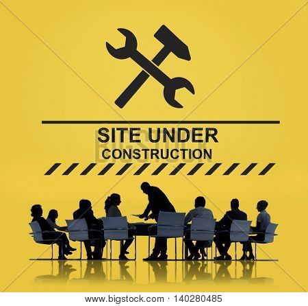 Under Construction Technical Problems Progress Concept