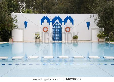 Swimming pool in Fes, Morocco