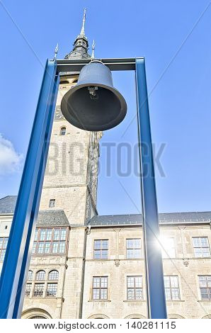 Bell Of Peace In Front Of The Townhall Of Dessau, Germany