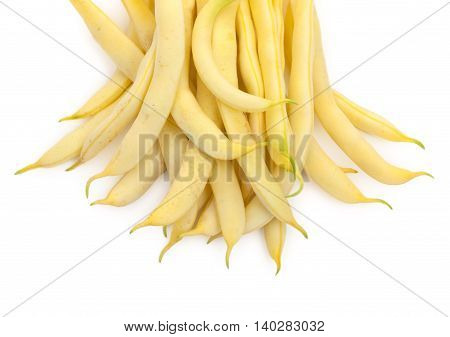 Green Beans (french Bean) Isolated On White Top View