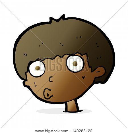 cartoon surprised boy