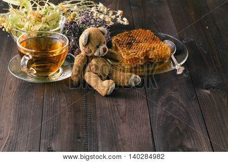 Kid Toy With Relaxed Herbal Tea