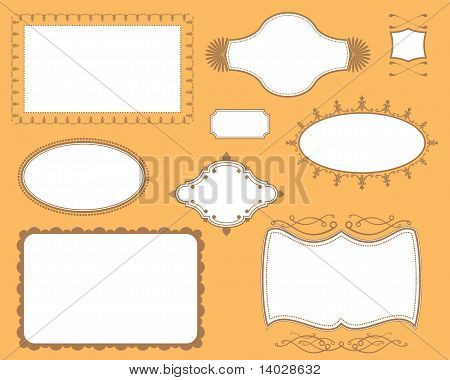 Book Cover Plates Frames Set