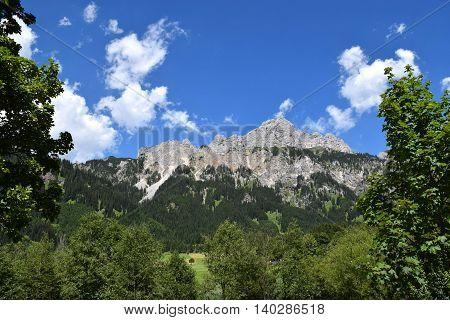 wonderful Austrian Alps in a sunny day